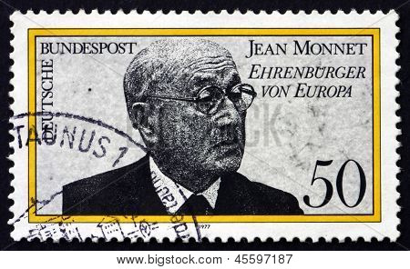 Postage Stamp Germany 1977 Jean Monnet, Honorary Citizen Of Euro