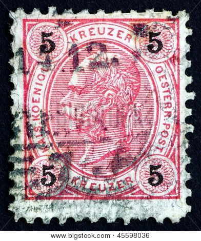 Postage Stamp Austria 1890 Franz Josef, Emperor Of Austria