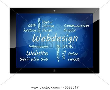 Tablet Webdesign Concept