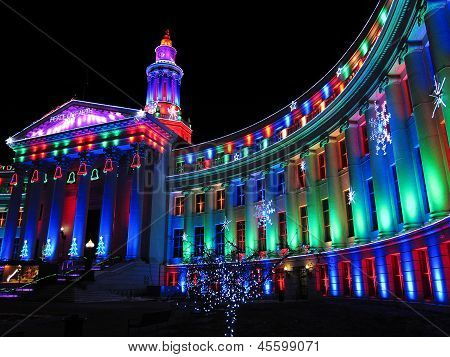 Denver City Building lights