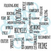 Bike Word Graphic