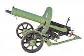 picture of maxim  - Maxim gun of the early twentieth century isolated on a white background - JPG