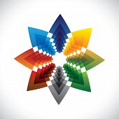 Abstract Colorful Star Creative Design Symbol- Vector Graphic