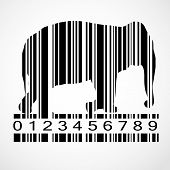 picture of barcode  - Barcode elephant image vector illustration - JPG