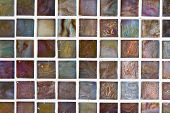 stock photo of grout  - Tile background with multi colored tiles and grout - JPG