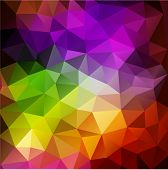 foto of polygons  - Colorful abstract geometric background with triangular polygons - JPG