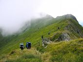Tourists Mountain Hiking poster
