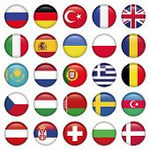 stock photo of sweden flag  - European Icons Round Flags - JPG