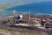 picture of blast-furnace  - Aerial view of Lucchini - JPG