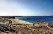 image of papagayo  - Scenic view of Playa de Mujeres beach - JPG