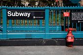picture of fire-station  - New York City Subway - JPG