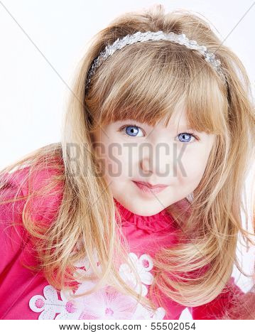 Little Girl With Big Blue Eyes