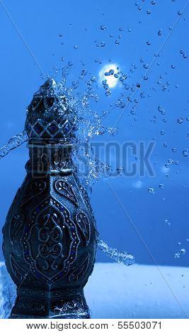 Arabian Oud Bottle Under Shower