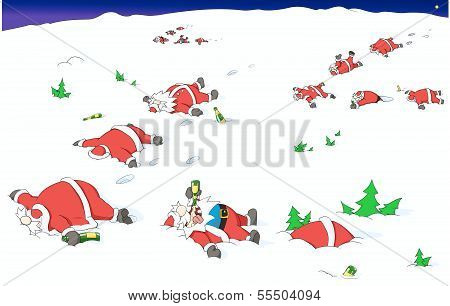 Party Christmas Cartoon, Going South