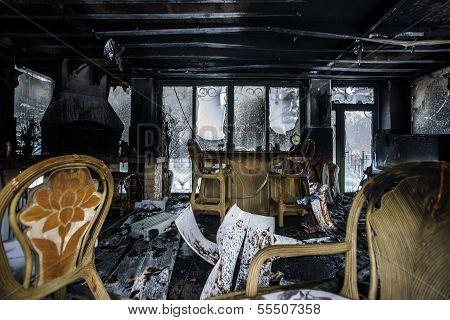 Fire Damaged Interior Details