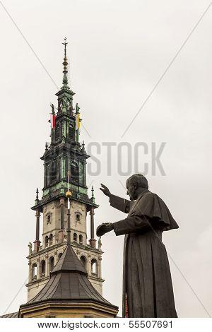 Statue Of Pope John Paul Ii - Czestochowa, Poland.