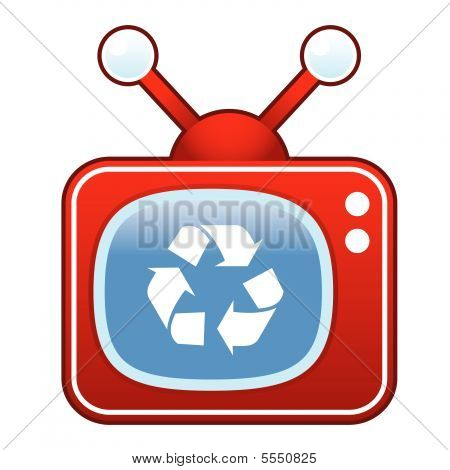 Recycle on retro TV button