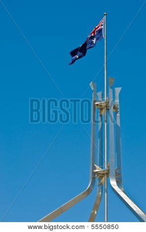 Australian Flag On Parliament House