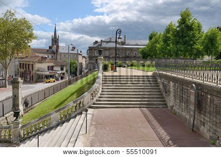 LIMOGES, FRANCE - SEPTEMBER 10: Staircase to Orsay Garden in Limoges, France on September 10, 2013. Built on the remains of Roman amphitheatre, the garden changes into a theatre during musical events