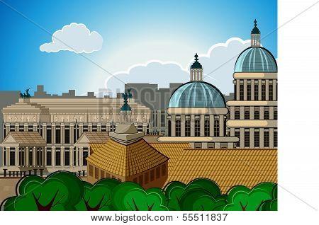 europe skyline city capital Rome background