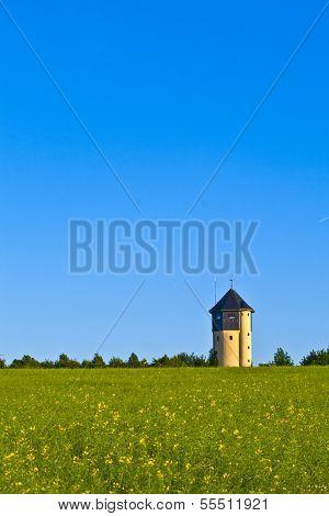 Watertower With Rape Fields