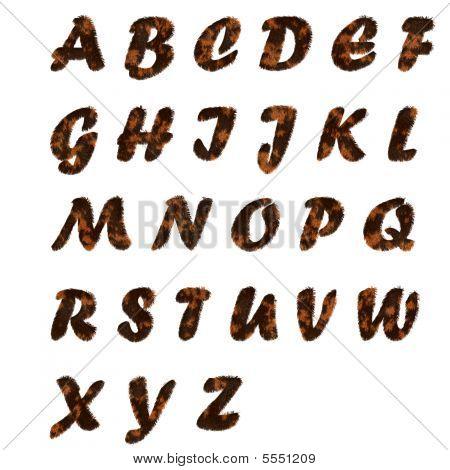 Pele texto alfabeto da a Z em branco