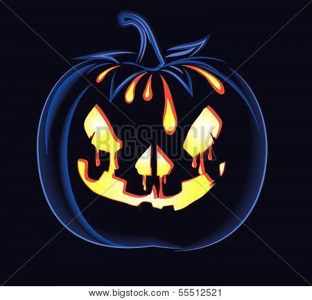 decorative halloween celebrate background with magic pumpkin
