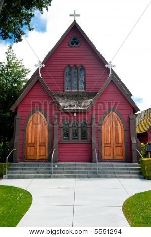 Red Wooden Cathedral