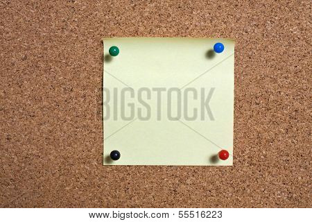Pinboard With Notes On It.