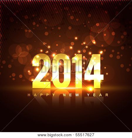 vector illustration of happy new year 2014