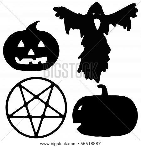 Halloween Silhouette Illustrations