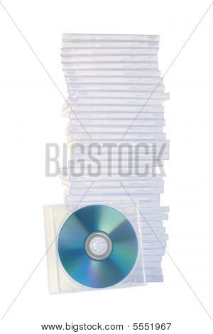 Stacked Empty Jewel Cases
