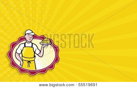 Cheesemaker Holding Plate Of Cheese