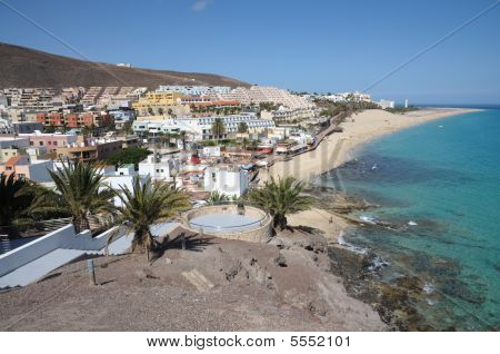 Coast Near Morro Jable, Canary Island Fuerteventura