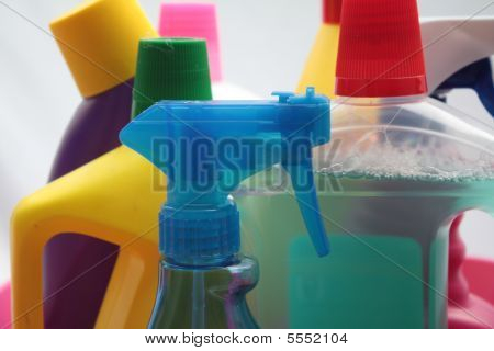 Garrafas de detergentes