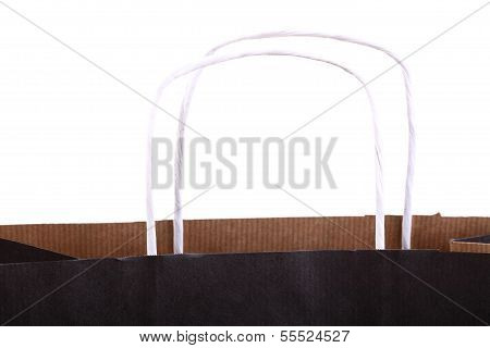 Shopping Black Gift Bags And Apple Isolated