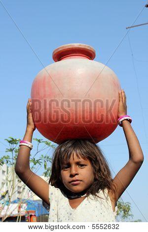 Girl Getting Water