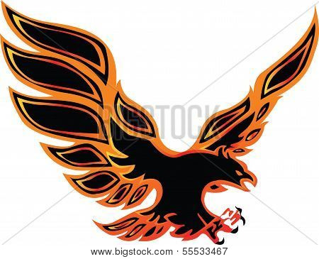 fire eagle symbolic design freedom concept