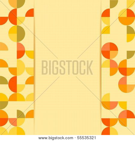 Abstract Background .pattern With Colored Circles On A Yellow Background.vector