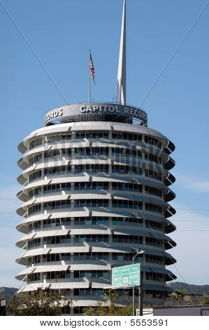 Capitol Records Office Building in Hollywood, California, United States