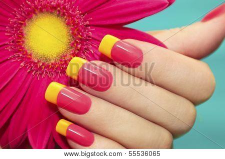 Two-tone manicure.