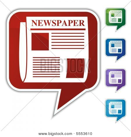 Zeitung Sprechblase