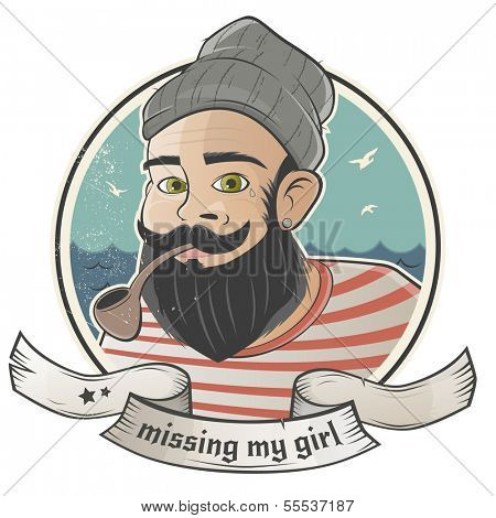 cartoon sailor is missing his girl