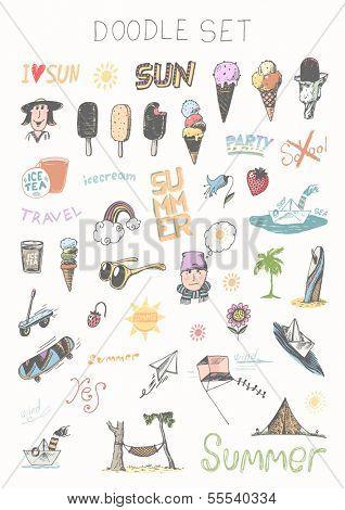 Doodle set - summer