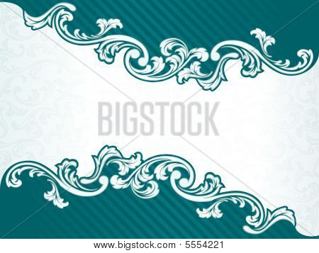 French Retro Banner In Green