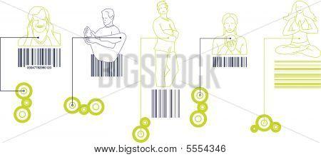 People Bar Code