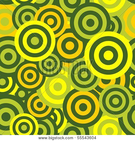 Hypnotic Seamless Pattern Background. Vector Illustration