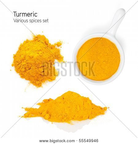 Turmeric. Isolated on white background
