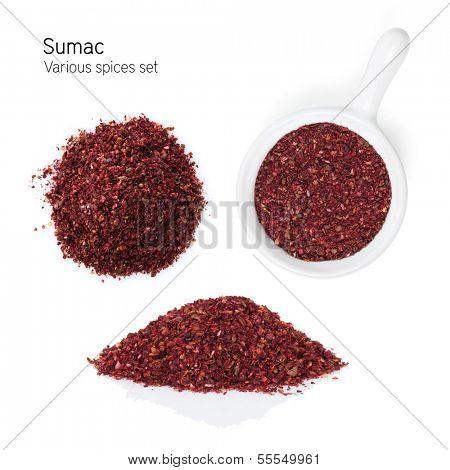 Sumac. Isolated on white background