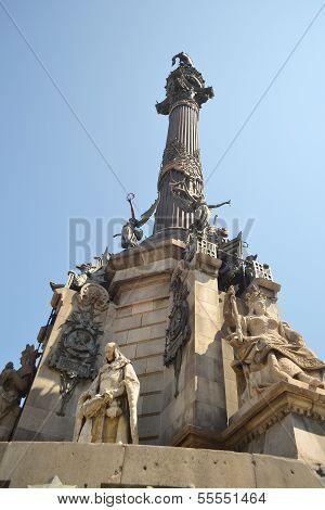 Columbus's Column In Barcelona.